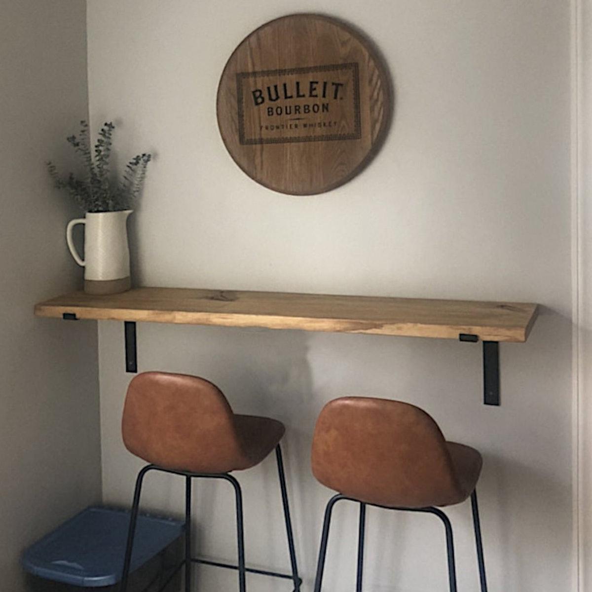 Modern Floating Loft Bar Table
