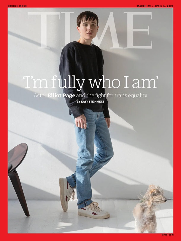 Elliot Page graces the cover of TIME magazine.