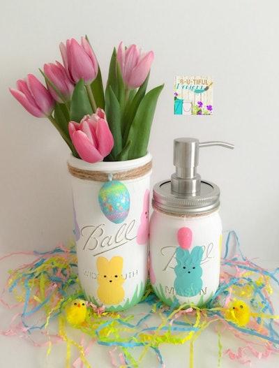 Easter Mason Jar Flower Vase & Soap Dispenser
