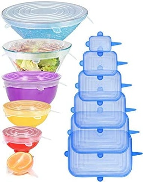 Longzon Silicone Stretch Lids (12-Pack)