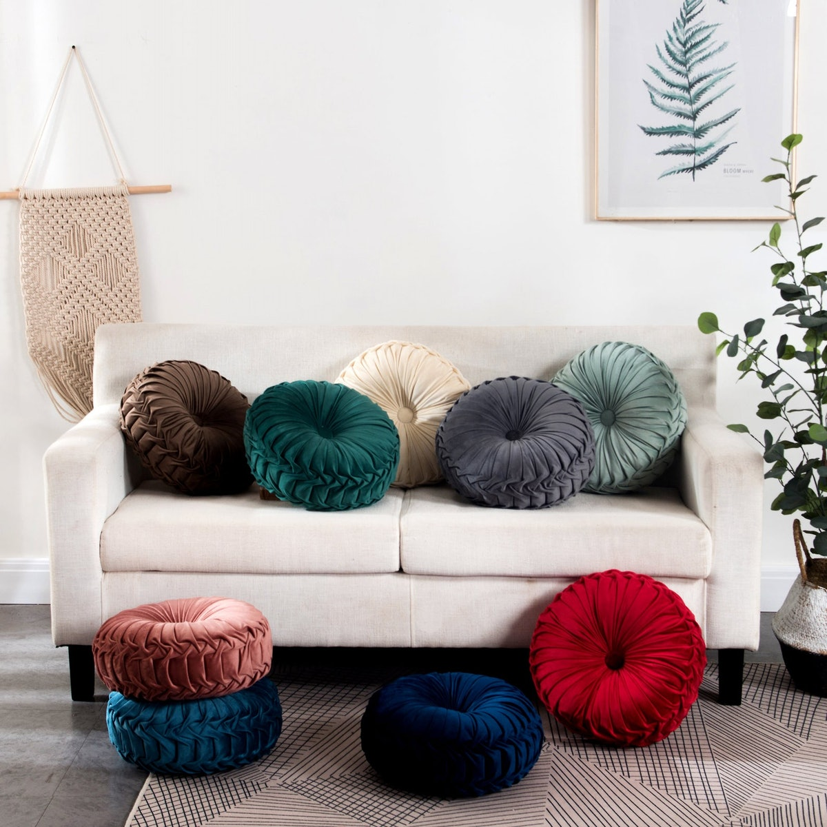 Kindred Home Round Throw Pillow Cushion