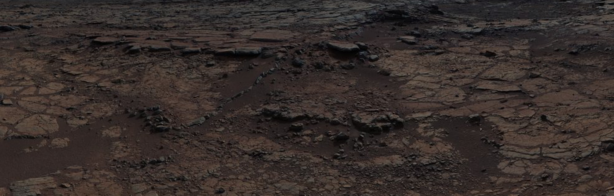 The surface of Mars as seen from the Curiosity rover
