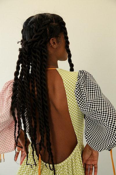 Kkco open-back dress.