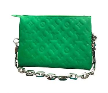 Coussin Leather Handbag Green