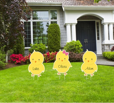 Easter Outdoor Lawn Sign Set