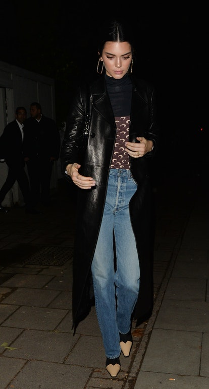 Kendall Jenner seen leaving a House party on December 11, 2018 in London, England.