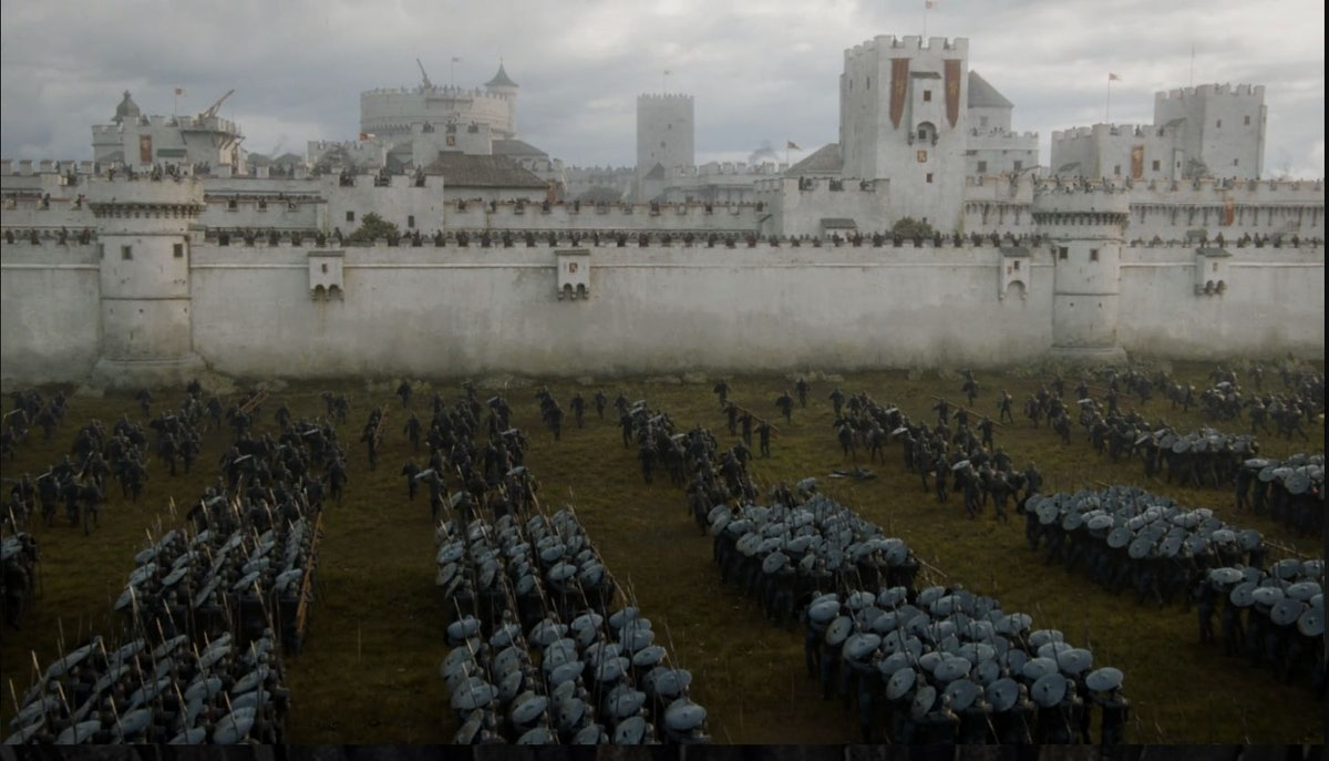 Casterly Rock in the Westerlands in Game of Thrones
