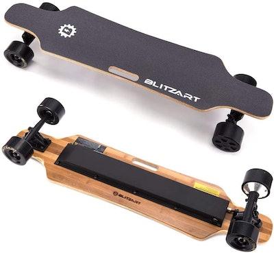 "Blitzart 38"" Hurricane Electric Longboard Electronic Skateboard"