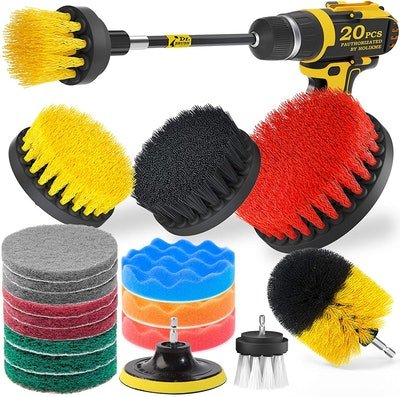 Holikme Drill Brush and Attachments (20-Pieces)