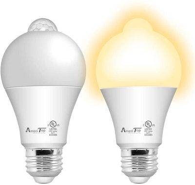 AmeriTop Motion Sensor Light Bulb (2-Pack)