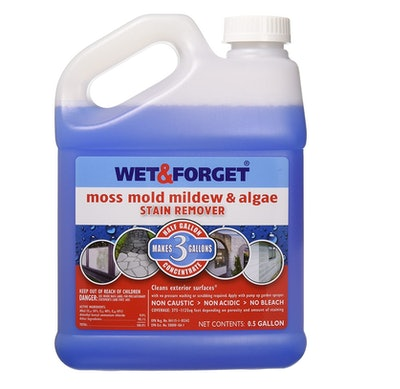 Wet & Forget Moss Mold Mildew & Algae Stain Remover, 64 Oz.