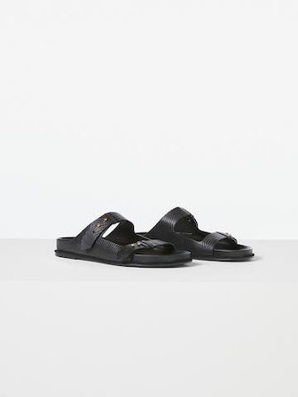 Le Colony Sandal Noir Lizard