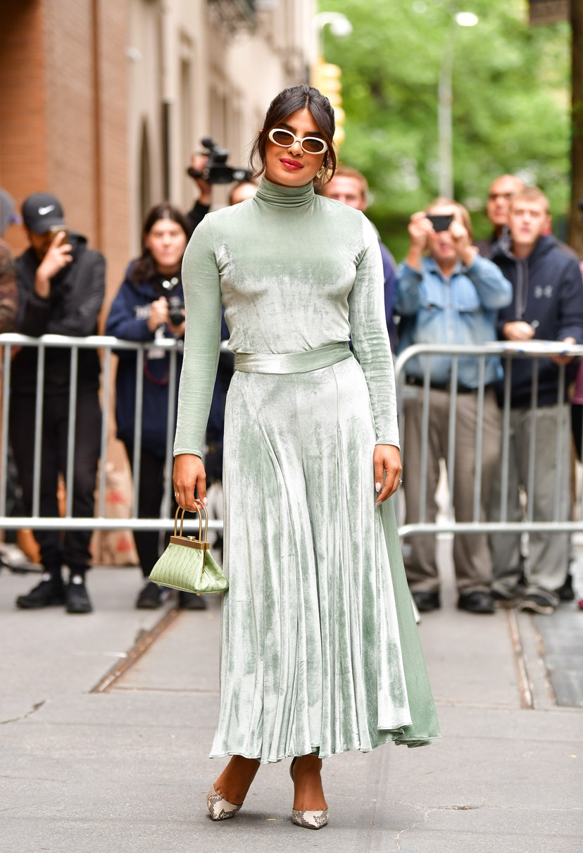 """Priyanka Chopra leaves ABC's """"The View"""" on October 8, 2019 in New York City."""