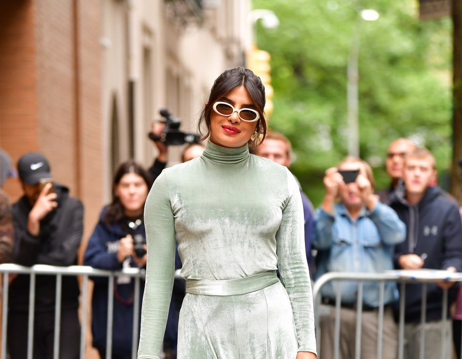 "Priyanka Chopra leaves ABC's ""The View"" on October 8, 2019 in New York City."