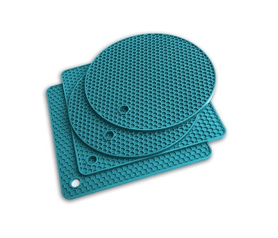 Q's INN 7 in 1 Multi-Purpose Pot Holders and Silicone Trivet Mats