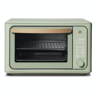 6 Slice Touchscreen Air Fryer Toaster Oven, Sage Green by Drew Barrymore