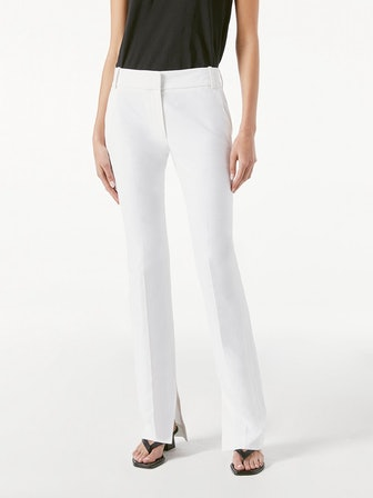 Slim Slit Trouser Suiting White