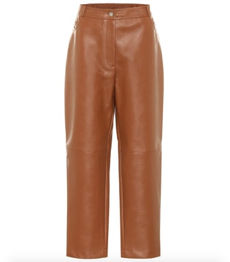 Hailey Faux Leather Straight Pants