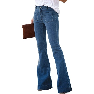 Sidefeel Mid-Rise Flare Jeans