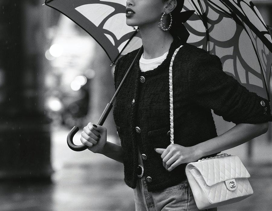 Women carrying Chanel bag