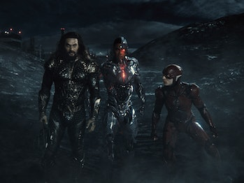"""Aquaman, Cyborg and The Flash in """"Justice League"""""""