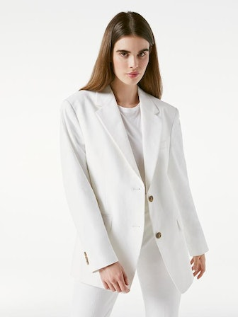 Grandfather Jacket Suiting White