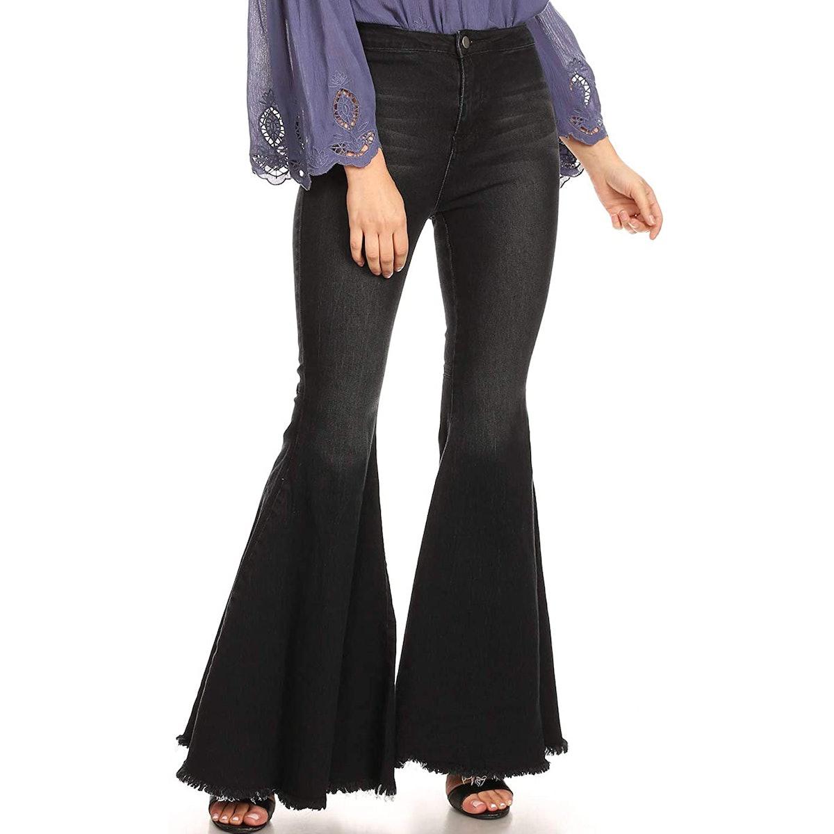 Anna-Kaci High-Waist Bell-Bottom Jeans