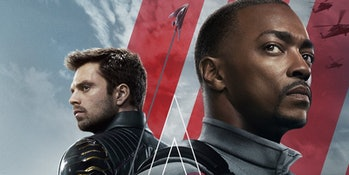 Sebastian Stan and Anthony Mackie in Marvel's The Falcon and the Winter Soldier