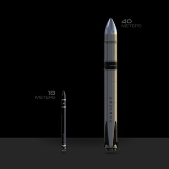 Rocket Lab's Electron rocket (left) and Neutron. The new rocket, on the left, could send up to 8,000 tons to low-Earth orbit.