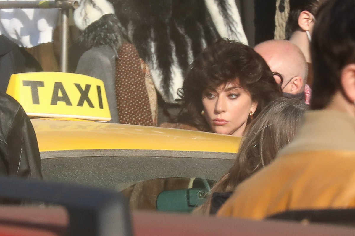 Lady Gaga on the set of House of Gucci