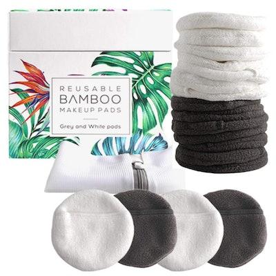Tayvada Bamboo Reusable Makeup Remover Pads (14-Pack)