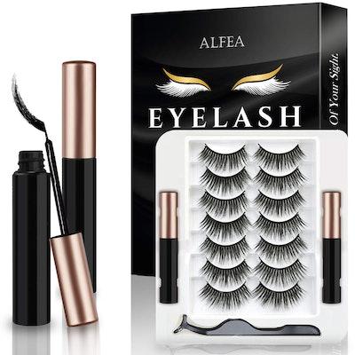 alfea Magnetic Lashes with Eyeliner and Tweezers