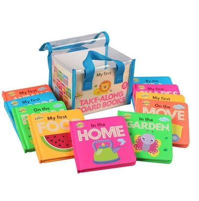Neon Take-Along Board Books: 10 Book Set
