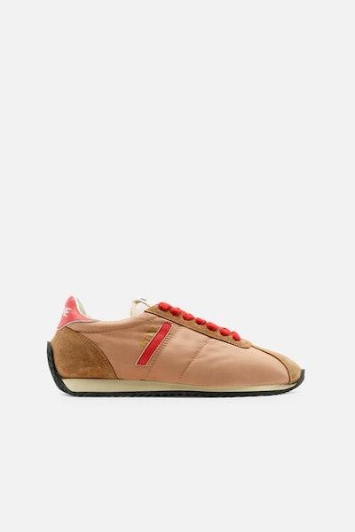 70s Runner in Tan/Red