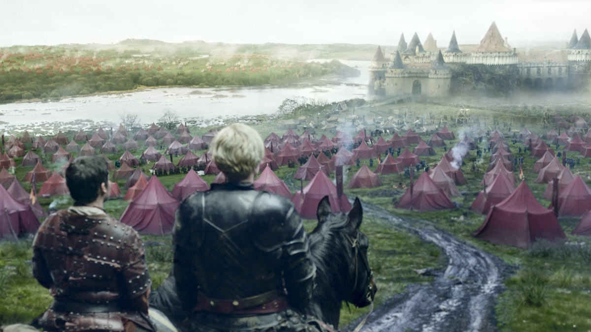 Gwendoline Christie as Brienne in The Riverlands in Game of Thrones