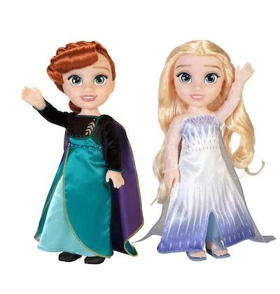 Disney Frozen 2 Anna and Elsa Doll, 2-pack
