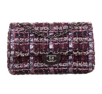 Tweed Medium Classic Double Flap Bag