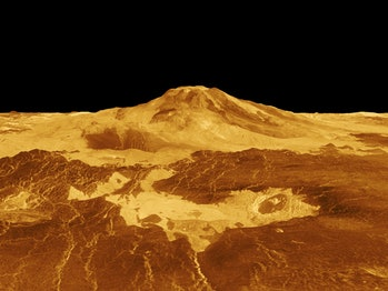 a surface image of venus recreated by computers