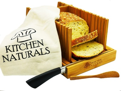 KITCHEN NATURALS Foldable Bamboo Bread Slicer