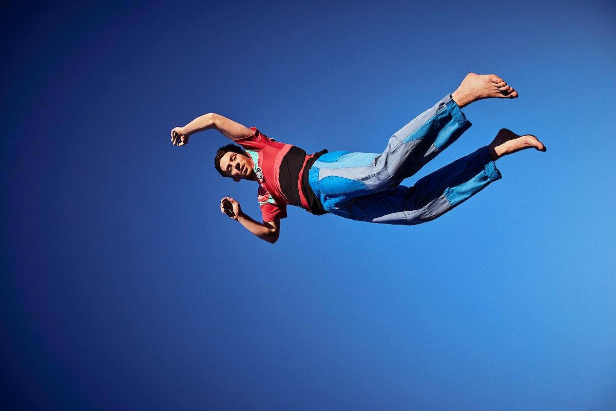 Josh O'Connor floating