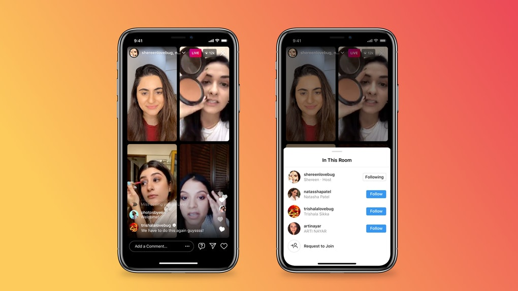 Here's how to use Instagram's Live Rooms to stream with up to three people.