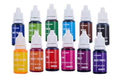 12 Color Liquid Food Coloring Set