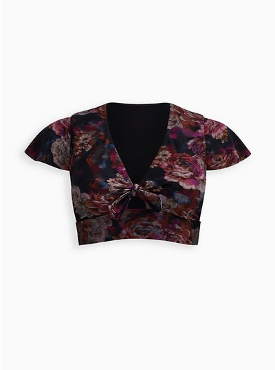 Rose Floral Wireless Swim Top