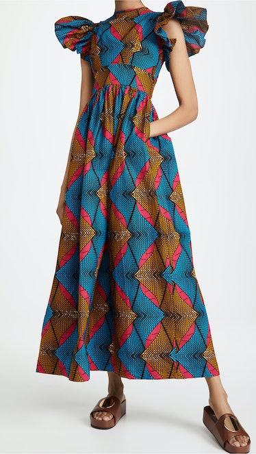 Ruffle Long Dress