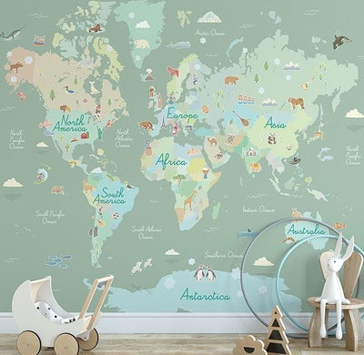 Where In The World Peel & Stick Mural
