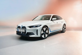 BMW's i4 electric sedan, expected to be released in late 2021.