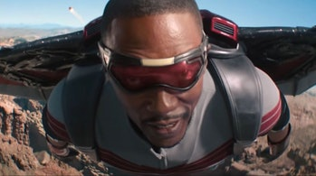 Anthony Mackie as Sam Wilson in Marvel's The Falcon and the Winter Soldier