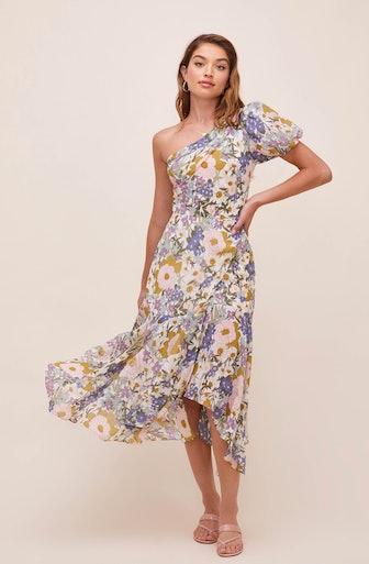 Santorini One Shoulder Midi Dress