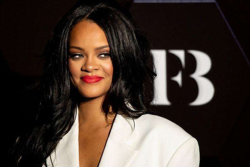Rihanna at a Fenty Beauty launch party