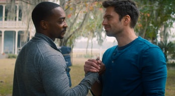 Sebastian Stan and Anthony Mackie friends in The Falcon and the Winter Soldier